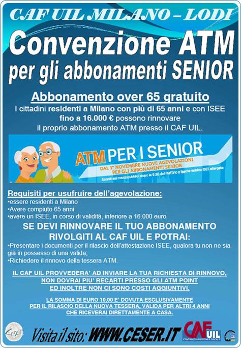 Locandina Convenzione ATM Senior